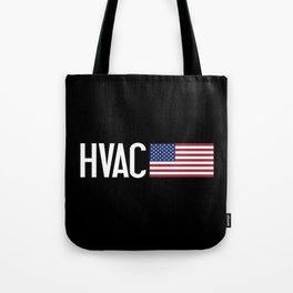 HVAC: HVAC & American Flag Tote Bag