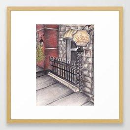 """Cheers"" bar  Framed Art Print"