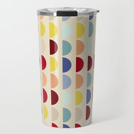 Semi circles multicolor geometric interior design Travel Mug