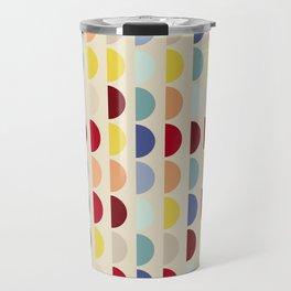 Semi circles multicolor geometric interior design Travel Mug