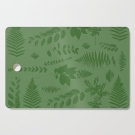 Green eaves on green background Cutting Board