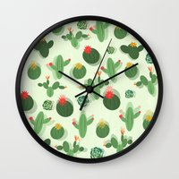 succulent Wall Clocks featuring Succulent by Kakel