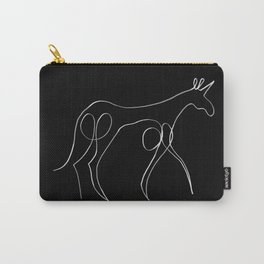 Continuous Line Unicorn V02 Carry-All Pouch