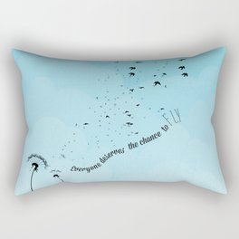 everyone deserves the chance to fly.. wicked the musical... Rectangular Pillow