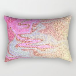 Glitter Marble Rectangular Pillow