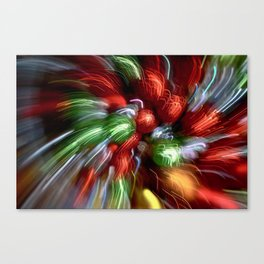 Abstract Red & Green Motion Blur Canvas Print