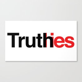 Truth in lies Canvas Print