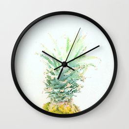 Pineapple slice - mosaic Wall Clock