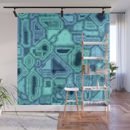 Blue Room Wall Mural