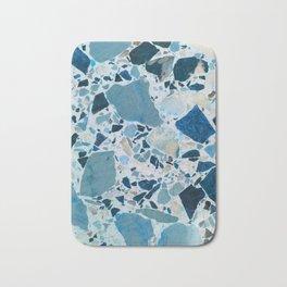 Vintage Blue Terrazzo Tile Bath Mat