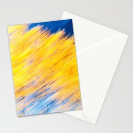 Poplar Trees in Autumn 1 Stationery Cards