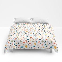 Terrazzo #pattern #illustration #Terrazzo Comforters