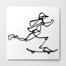 Skate :: Kick Push Metal Print