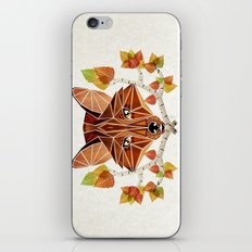 fox autumn iPhone & iPod Skin