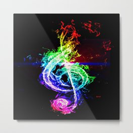 The Great Treble Clef Metal Print