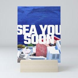 Sea you soon [Santorini, Greece] #6 Mini Art Print