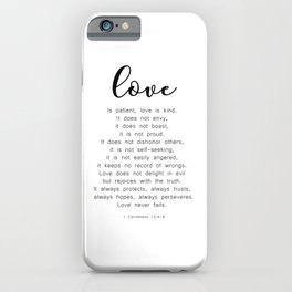 Love Never Fails #minimalism iPhone Case