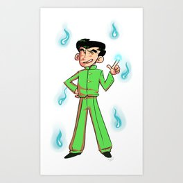 Green Punk Art Print