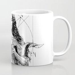 Lady with Skull. Yury Fadeev. Coffee Mug