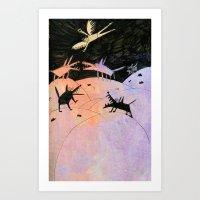 wings Art Prints featuring wings by Bunny Noir