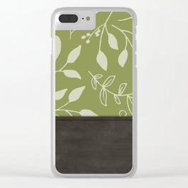 Leather and Greens Clear iPhone Case