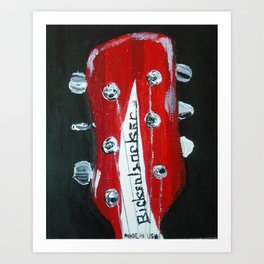 Rickenbacker Headstock Guitar Art Acrylic Painting Art Print