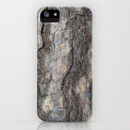 pine tree bark - scale pattern iPhone Case
