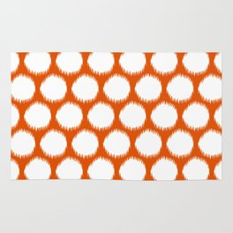 Persimmon Asian Moods Ikat Dots Rug