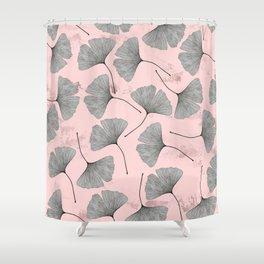 biloba pattern Shower Curtain