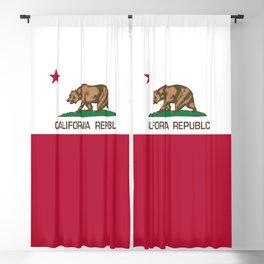 California Republic Flag Blackout Curtain