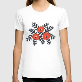 Summer Poppy Floral Print T-shirt