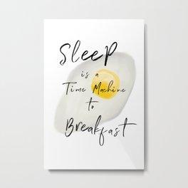 Breakfast / poster, art print, pictures, scandinavian, nursery, deco, saying, christmas, sarcasm, eg Metal Print