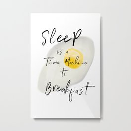 Breakfast — poster, art print, pictures, scandinavian, deco, sarcasm, egg, food, kitchen, wisdom fun Metal Print