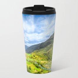 Small Village within mountains Travel Mug