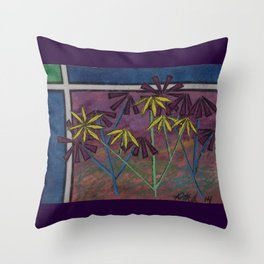 Kokum Flowers #17 Throw Pillow