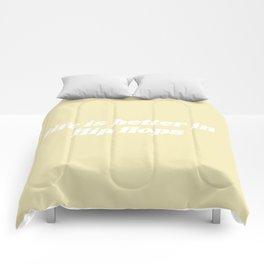 life is better Comforters