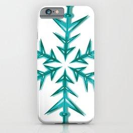 Minimalistic Aquamarine Snowflake iPhone Case