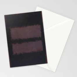 Black on Maroon 1958 by Mark Rothko HD Stationery Cards