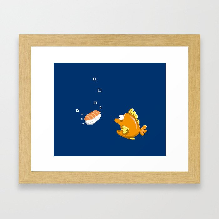 Pixel Sushi Framed Art Print