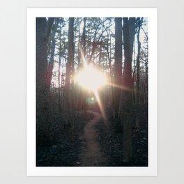 Towards the light. Art Print