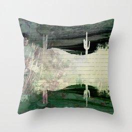 Dark Abstract Desert Throw Pillow