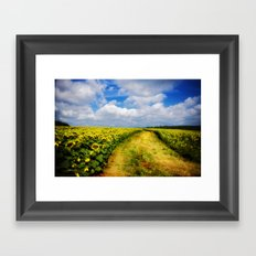 Happy trail Framed Art Print