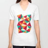 diamond V-neck T-shirts featuring Diamond by Azarias