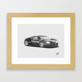 Bugatti Veyron EB Framed Art Print
