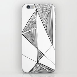 Triangles perspective geometric ink-pen drawing iPhone Skin