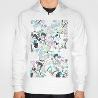 cartoon Hoodies featuring Cartoon Pattern by Eduardo Doreni