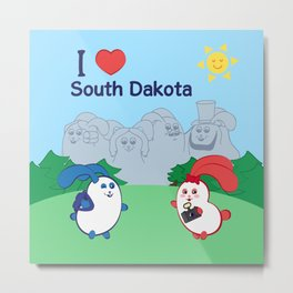 Ernest and Coraline | I love South Dakota Metal Print
