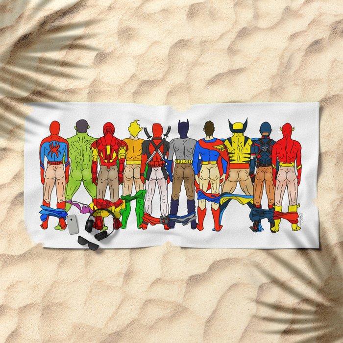 Superhero Butts LV Beach Towel