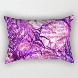 Purple Fern Rectangular Pillow