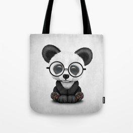Cute Panda Bear Cub with Eye Glasses Tote Bag